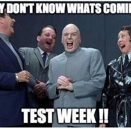 Test Week 13th Nov - 17th Nov