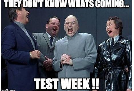Test Week Dec 4th - Dec 9th